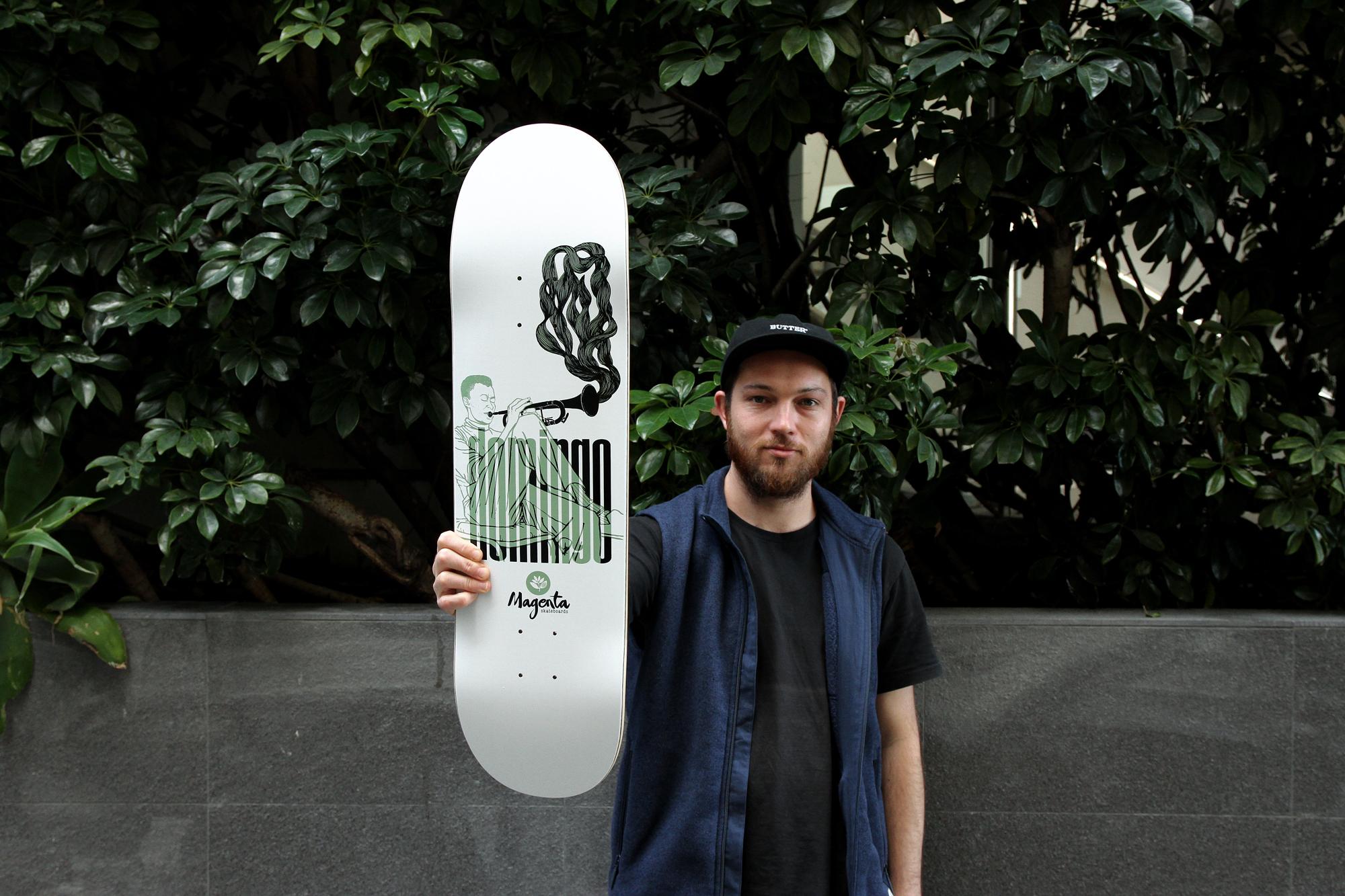 josh Roberts domingo Magenta skateboards