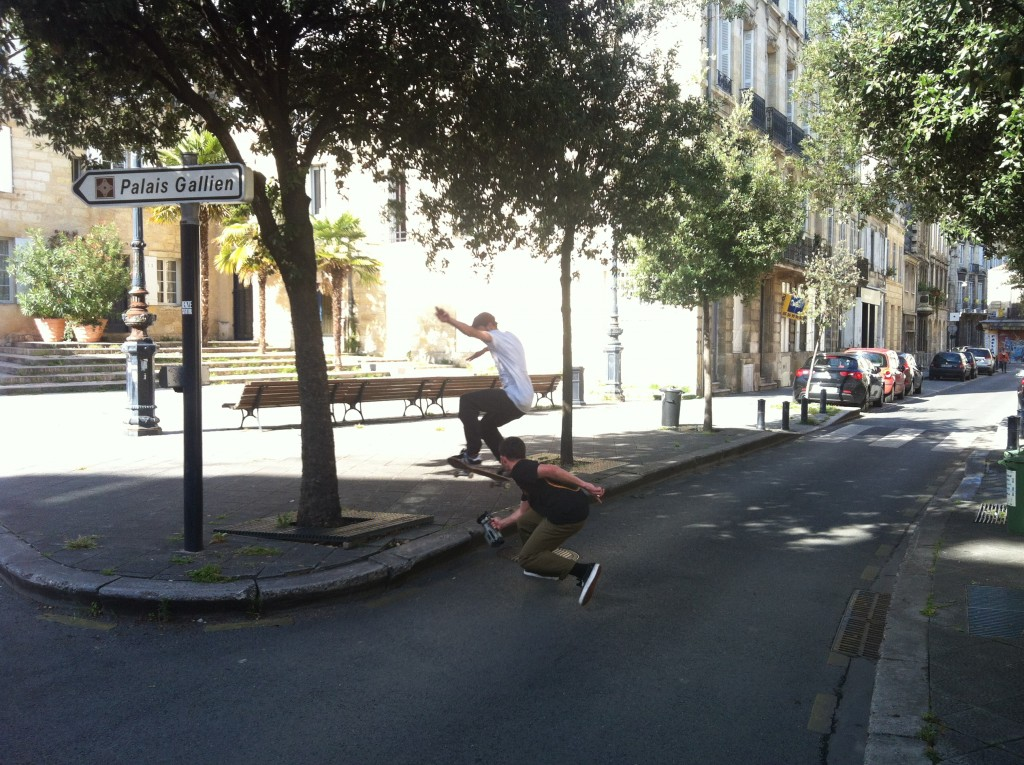 Gaetan Salvignol and Josh busy in those Bordeaux streets