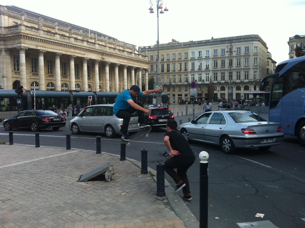 Australian legend Morgan Campbell stacking in Bordeaux