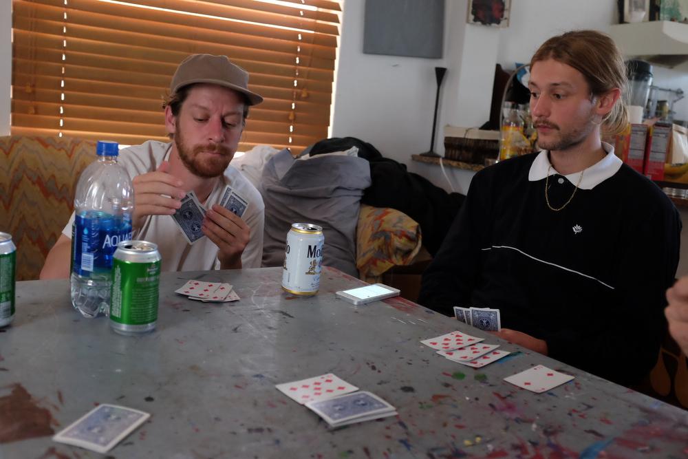 Glen poker face